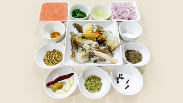 Crab Masala Fry-ingradient