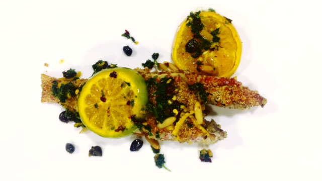 Fried Mullet with Orange and Capers