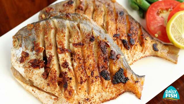 White Pomfret with Garlic